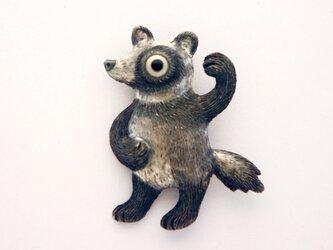 ポンポコ狸 ブローチの画像