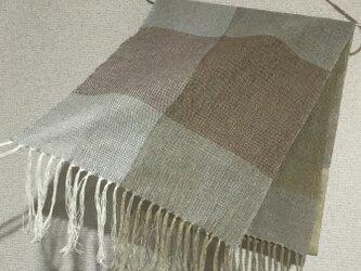 手織りストール W17の画像
