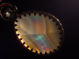 ~虹を閉じ込めた石~ イリスアゲートとグリーンカイヤナイトのペンダントの画像