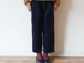10w Stretch Corduroy tuck Pants kids 4(140~155cm)sizeの画像