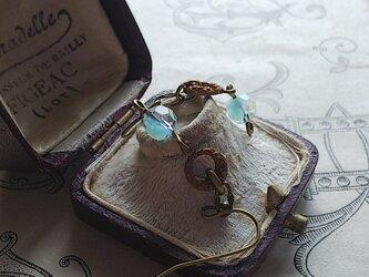 ヴィンテージ Turquoise-Givre(6㎜)Art Nouveau ピアスまたはイヤリングの画像