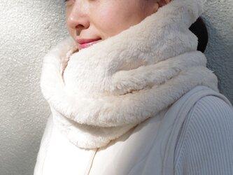 Organic Cotton Fur ふわふわツイストネックウォーマー 【ビックサイズ】の画像