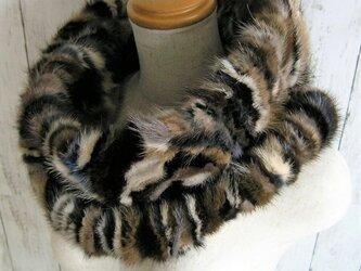 ¶ new antique fur ¶ マルチカラーミンクゆったり大きめnejiriスヌード「varim」の画像