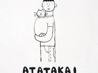 猫あたたかい・男子【猫選べます Tシャツ】の画像