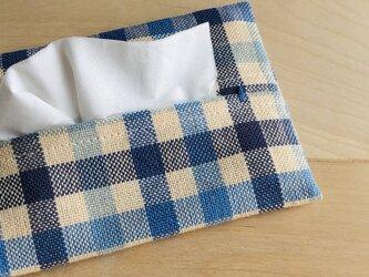 手織り布のティッシュケース *himmel*の画像