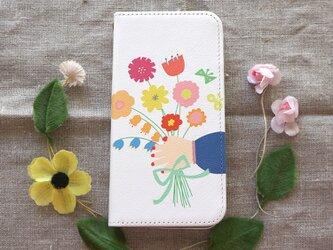 【iPhone 専用タイプ】帯なし*手帳型*スマホケース「gift」の画像