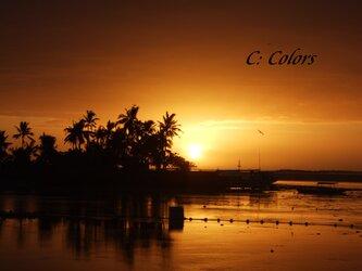 セブ島の朝日 【アート写真A4サイズ/額なし】の画像