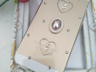 iPhoneケース Android スマホケース バラとオーバルパールの画像