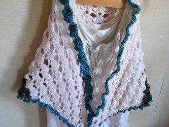 ふんわり編みのカラフルストール の画像