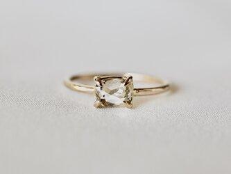 Infinity gold diamond ringの画像