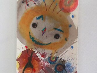 手描きの現代アート/現代絵画/おしゃれな壁掛け/カラフルな現代アート/可愛いインテリア・もくもくシリーズ・こどもの画像