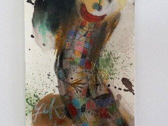 手描きの現代アート/現代絵画/おしゃれな壁掛け/可愛いインテリア/カラフルな絵画・もくもくシリーズ・天使の絵画の画像