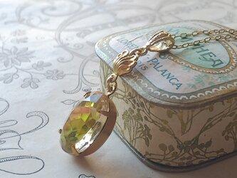 ヴィンテージ Rosalin-LimeーColor/ Shell ネックレスの画像