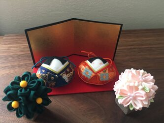 貝雛 ミニ親王飾り-は-(桜橘付)の画像