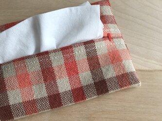 手織り布のティッシュケース *jord*の画像
