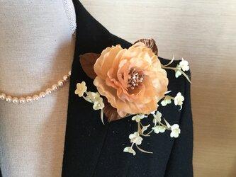 再販黄色薔薇と小花の画像
