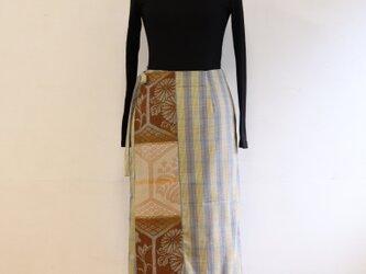 巻スカート風ロングスカート 綿 MLサイズの画像