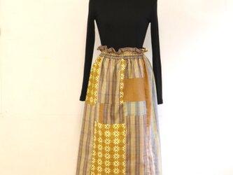ほっこりイエローのリラックスゴムスカート Fサイズの画像