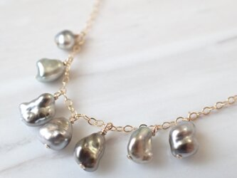 K14GF keshi tahitian pearl long necklaceの画像