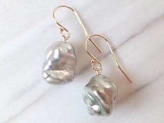 K14GF keshi tahitian pearl pierceの画像