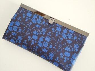 リバティ ラミネート  カペル(紺) 長財布の画像