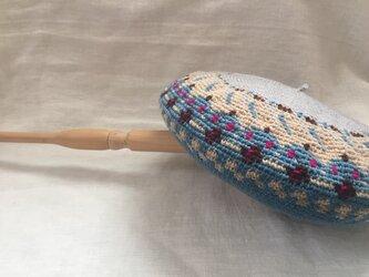 ベレエ帽 ユキモグラライトブルーの画像