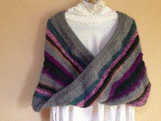 メビウス編みのスヌードの画像