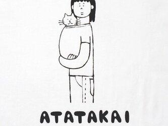 猫あたたかい・女子【猫選べます Tシャツ】の画像
