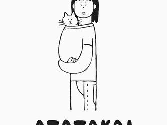 猫あたたかい 女子 【 猫 選べます Tシャツ 】の画像