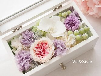 ◆再販メモリアルボックス・コチョウランピンク(お供・お線香ケース)の画像
