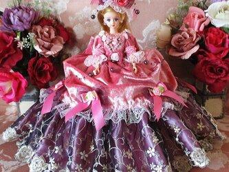 ルノアールの夢 モーブピンクのフェミニンプリンセスドールドレスの画像