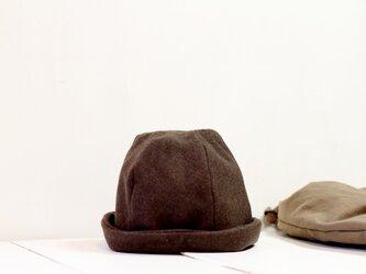 HELMA HAT | FLANNELWOOL c/#BROWN【L61】の画像