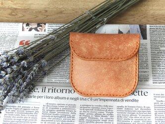 イタリア革のコインケース/オレンジの画像