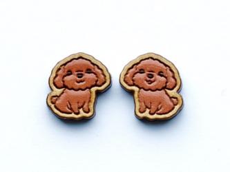 『田田製作所』手作り レディースピアス プードル犬の画像