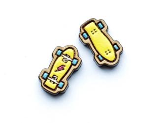『田田製作所』手作り レディースピアス スケート黄の画像