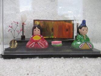 お雛様 ひな人形 おひな祭り クリアケース付きの画像