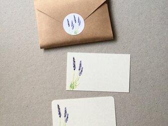 ラベンダーのメッセージカード 20枚の画像
