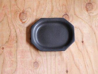 八角オーバルプレート 黒の画像