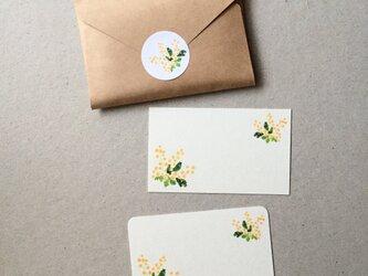 ミモザのメッセージカード 20枚の画像
