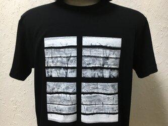 ウィンドウ・ブラック・Tシャツ【2TN-008-BK】の画像