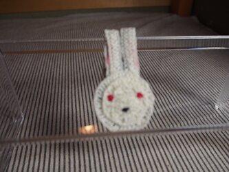 ウサギさんブローチ 小の画像