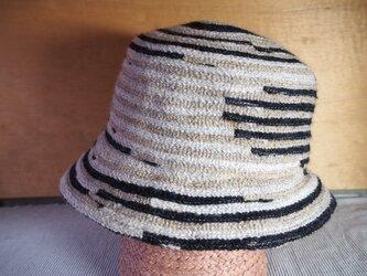 毛糸ブレード キャペ(ベージュ/黒/白)の画像