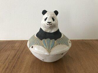 パンダの貯金箱の画像