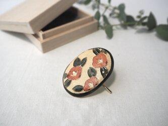 陶器のポニーフック 『椿』の画像
