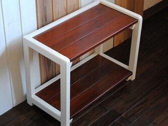 ☆あると便利な2段テーブルラック♪テレビ台やサイドテーブルにも♪の画像