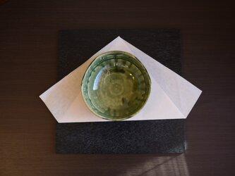 織部刻文三方鉢の画像