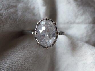 大粒4,66カラットオーバルナチュラルダイヤモンドリングの画像