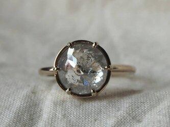 大粒3,5ctラウンドナチュラルダイヤモンドリングの画像