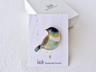 小鳥のブローチ(緑)の画像