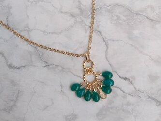 雫タッセルのネックレス(翡翠)/ drop tassel (color: Jade)の画像